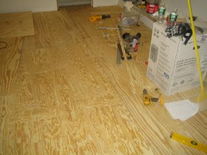 Tiling the Kitchen Floor with Ditra with Schluter Ditra Underlayment